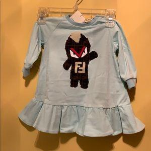 Fendi 6 m baby girl dress . New